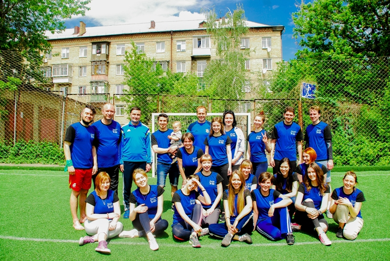StaffFUNmeeting in May 2017: a football training conducted by an ex-Dynamo player