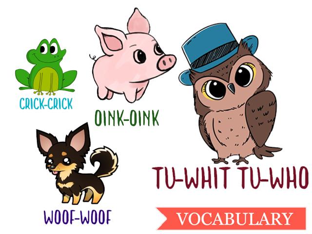 Как животные говорят на английском