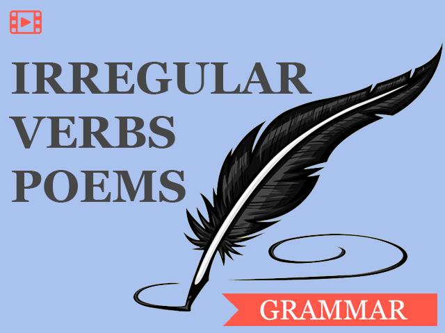 Неправильные глаголы в стихах